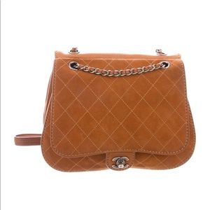 Chanel Cognac quilted bag